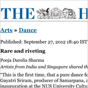 Dance Rare and riveting The Hindu 28 Sep 2012
